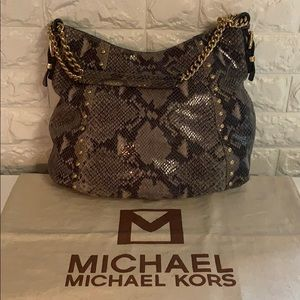 EXCELLENT 👜 Authentic MK snakeskin hobo